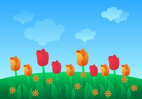 Vetores de papel de parede linda Primavera