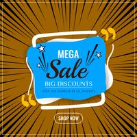 Abstract mega sale modern background