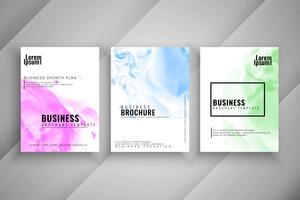 Conjunto de design moderno de brochura de negócios abstrata