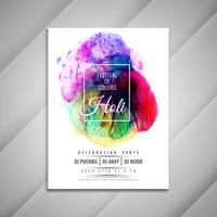 Abstract stylish Happy Holi celebration flyer design template