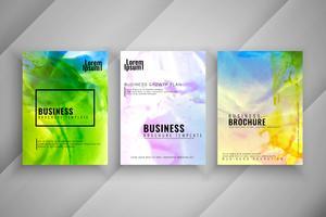 Sistema abstracto del diseño moderno del folleto del negocio