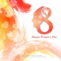 Design de fond aquarelle coloré abstrait Happy Women's Day