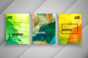Conjunto de design de brochura de negócios abstratos