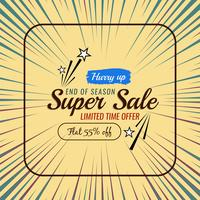 Abstract sale offer colorful background