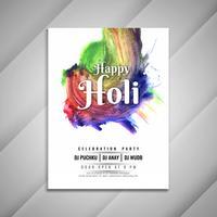 Abstraktes glückliches Holi-Feierparty-Einladungskartendesign
