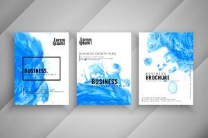 Abstract business brochure modern design set