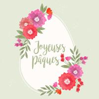 Illustrazione di Joyeuses Pâques di vettore