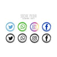 Abstracte sociale media iconen set