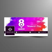 Abstrakt modern Kvinnors dag facebook banner mall
