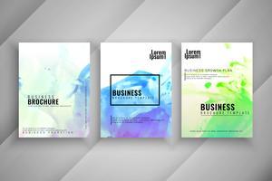 Abstrakter bunter Geschäftsbroschüren-Designsatz