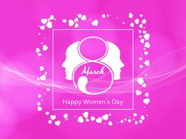 Abstract Happy Women's Day roze achtergrondontwerp
