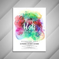 Abstrakte glückliche Holi-Feierflieger-Designschablone