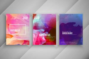 Abstract colorful business brochure design set