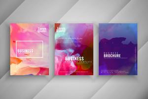 Sammanfattning färgglada affärs broschyr design set