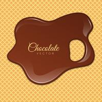 Liquid Chocolate or Brown Paint. Vector illustration.