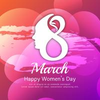 Abstract Happy Women's Day colorful watercolor background design