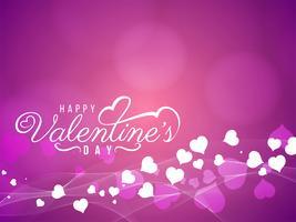 Resumen feliz día de San Valentín hermosa tarjeta de diseño