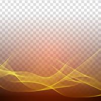 Abstract stylish wave design on transparent background