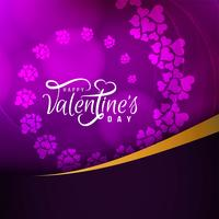 Schöner glücklicher Kartenentwurf des abstrakten glücklichen Valentinstags