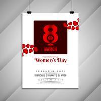 Abstrakt kvinnodag firande festinbjudan kort mall