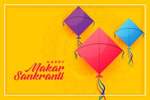 colorful kites background for happy makar sankranti