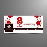 Abstrakt Kvinnors dag facebook banner mall