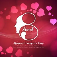 Abstract Happy Women's Day stylish background design