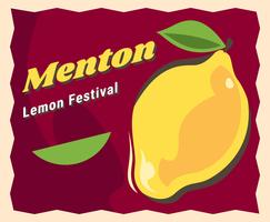 Awesome Menton Frankrijk Lemon Festival Vectoren