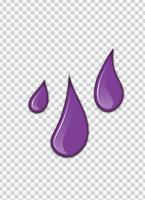 salpicaduras de vector púrpura con fondo de transparencia