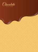 Líquido chocolate o pintura marrón. Ilustracion vectorial