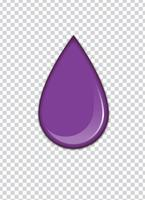vector paarse splash met transparantie achtergrond