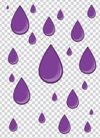 splash vector violet avec fond de transparence