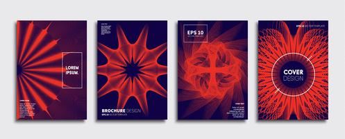 Minimale Vector-Cover-Designs. Zukünftige Plakatschablone.