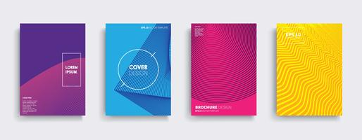Diseños de portadas de vectores mínimos. Plantilla de póster de futuro.
