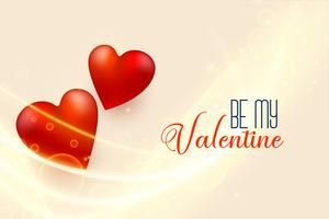 beautiful valentines day background with 3d red hearts