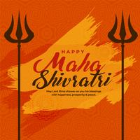 illustration of maha shivratri festival with trishul