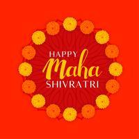 Festival de shivratri de maha hindú de lord shiva con decoración floral
