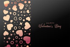 glänsande lyckliga valentiner dag hjärtan bakgrund