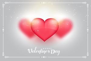 lovely hearts background for valentines day