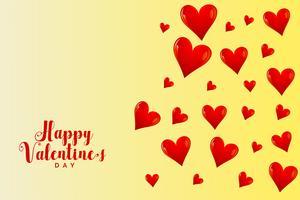 Fondo de corazones voladores para el día de San Valentín