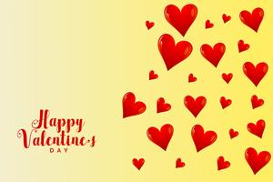 flying hearts background for valentines day