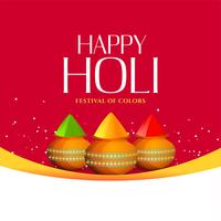 happy holi gulal (powder color) background design