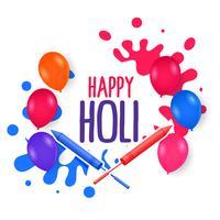 couleurs ballons éclaboussures pour joyeux festival de holi