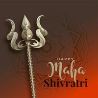 maha shivratri bakgrund med trishul vapen