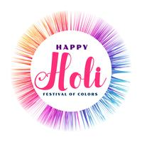 abstract happy holi colorful frame background