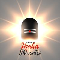 glowing lord shiv shivling maha shivratri background