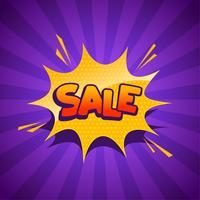 sale banner in comic style