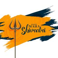 happy maha shivratri festival greeting with trishul symbol background