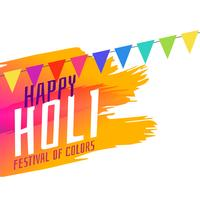 happy holi festival greeting background