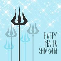Lord Shiva Trishul bakgrund för Maha Shivratri Festival